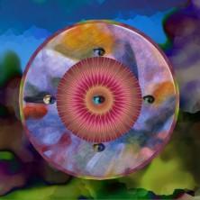 ©Nadia Loria Legris - Gardien du temps - Estampe numérique impression sur canevas 2014 50 x 50 cm